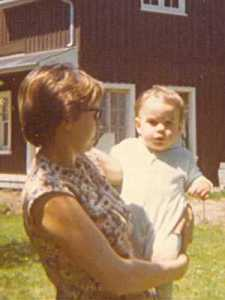 Alex with his Mom in 1969